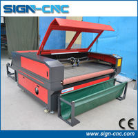 Hot sale 90W / 100w laser cutting machine for fabric / textile laser cutting