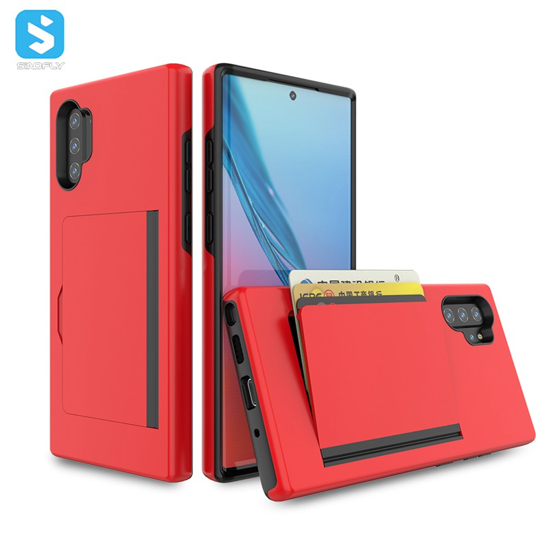 Shockproof two layer hybrid TPU PC card slot phone case for Samsung Galaxy Note <strong>10</strong> <strong>Pro</strong>