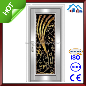 QD-SS130 Stainless Steel Frame With New Designs Stainless Steel Door