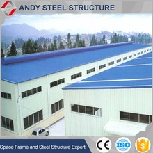 Low cost prefabricated industrial steel structure building shed
