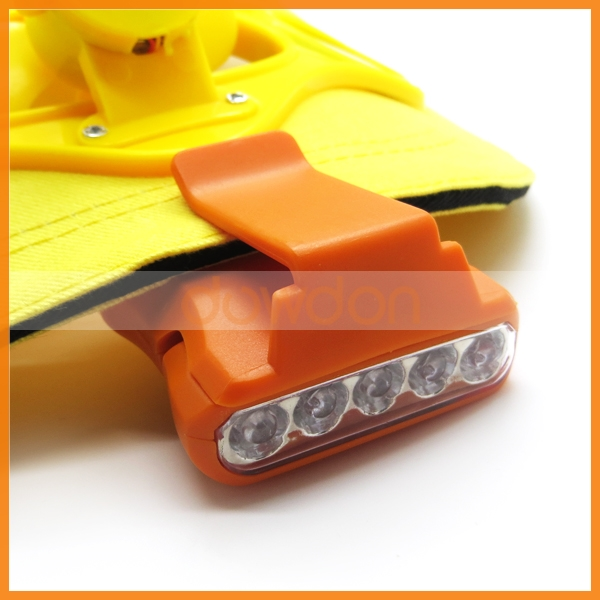 5 Led Head Lamp Outdoor Hand Free Clip on Hat Mining Cap Headlamp