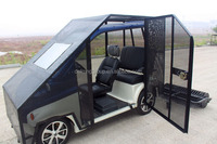 M CE certificate black 3 seats 4 wheel electric cars factory supply directly