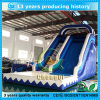 top selling banzai inflatable water slide/inflatable pool water slide