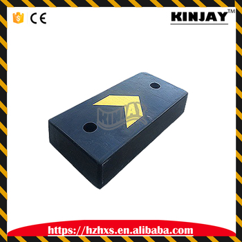 high quality 250 * 500 * 90mm traffic safety black crash block