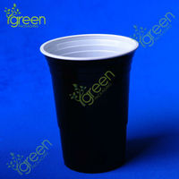 Colored styrofoam cups