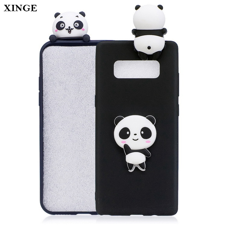 3D Cute Cartoon Animal Soft Rubber Silicone Cover Phone Case For Samsung Galaxy Note 8