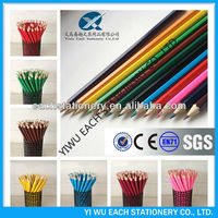 HB yiwu pencil factories hexagon wooden pencil full color printing pencil oem design