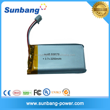 China Battery manufacturer wholesales Lipo battery cheap price 3.7V 2250mAh battery