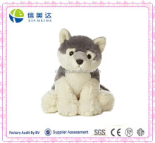 Hot Sale Sitted Gray Wolf Stuffed Plush Animal Wolf Toy