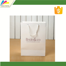 custom logo design shopping paper cart bag with rope handle and eyelets for Christmas gifts