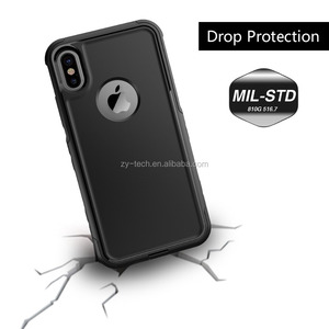 2017 release slim sturdy PC TPU double layer protective case for iphone X back cover in stock