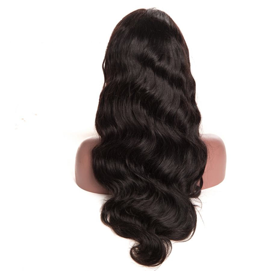 7A Glueless Full Lace Front Wig Body Wave Wigs Black Women Free Part Chinese Virgin Full Lace Human Hair Wigs