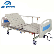 High Quality cheap 2 cranks manual lift hospital bed