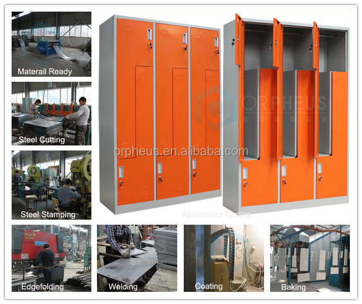 Pub Center Luoyang Furniture Metal Lockers 6 Doors Z Locker China Made Clothes Closet Store Furniture Clothing Steel Gym Cabinet