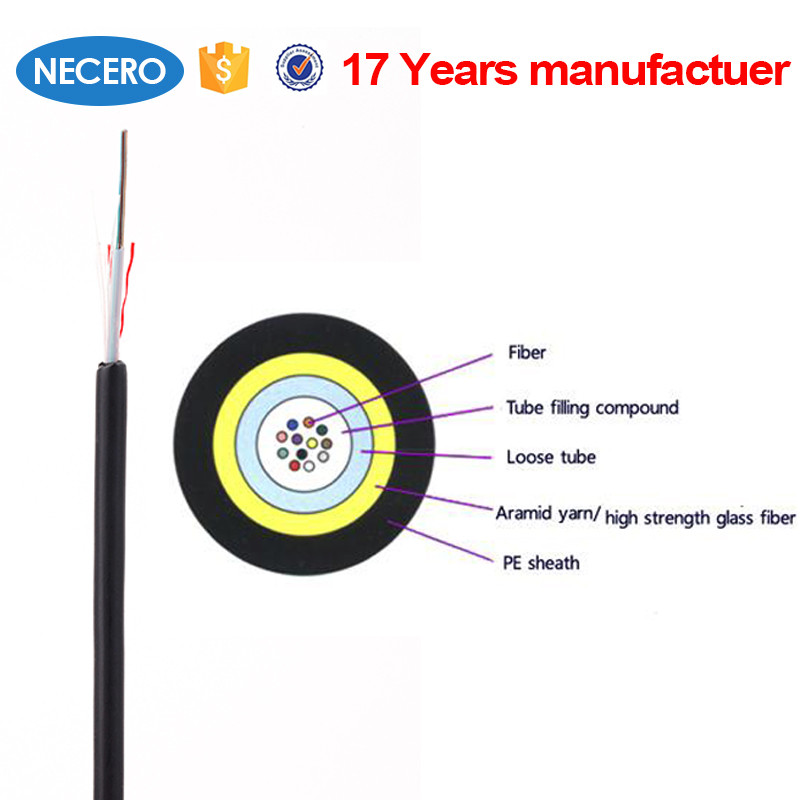 JET 8 core OM2 50/125um Multimode Central Loose Tube Indoor /Outdoor fiber optic Cable For Russia cabling system