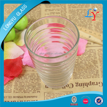 high quality heat-resistant borosilicate drinking water glass
