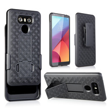 2017 Plastic mobile phone holster clip case for LG G6