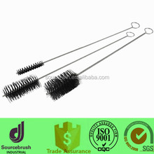 customized steel handle boiler flue cleaning tube brushes with nylon black bristle