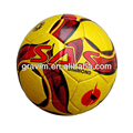 Classic yellow custom promotional hand sewed TPU soccer ball