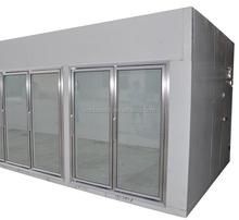 Supermarket used glass doors display cold room