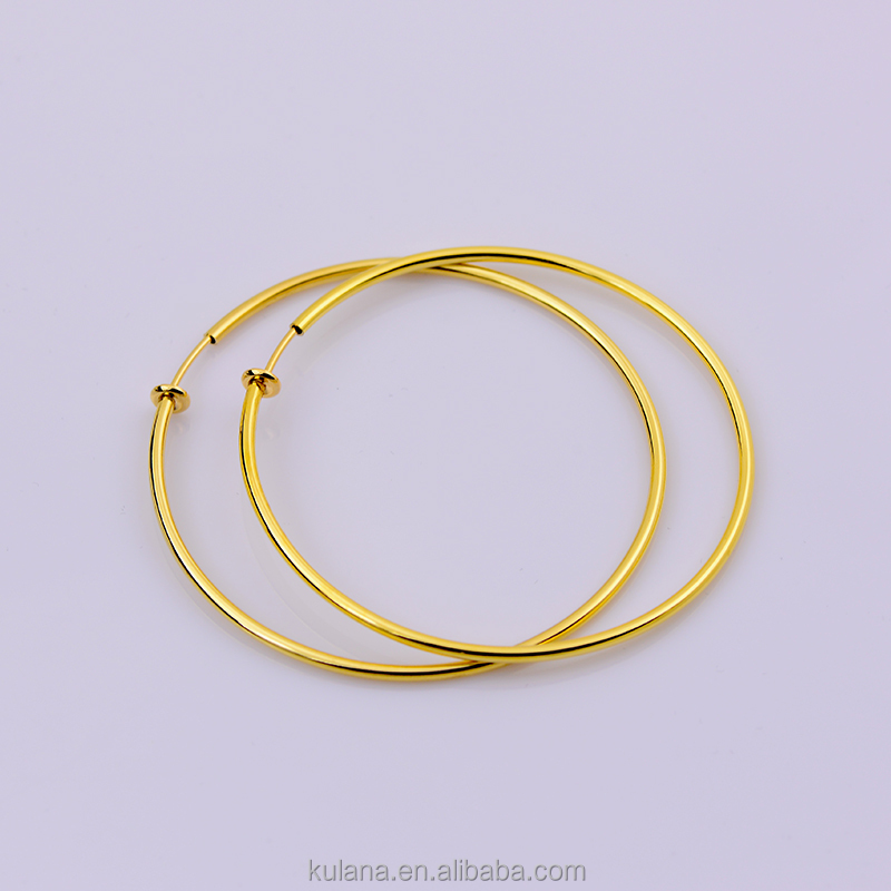 Real sourcing factory Wholesale 60mm Gold <strong>Earrings</strong> For Women Septum Fake Piercing Hoops