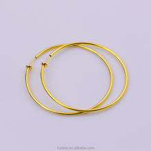 Real sourcing factory Wholesale 60mm Gold Earrings For Women Septum Fake Piercing Hoops