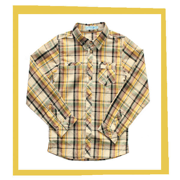 100%cotton checked long sleeve free boys shirt patterns
