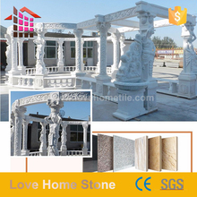 garden product Good quality &amp best price in China marble stone figure carving gazebo with best quality and low price