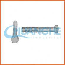 China supplier m22 din 933 hex bolt zinc plated
