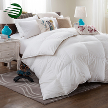 Chinese Wholesale Double Stitch Soft White Goose Down Quilt Duvet Inner