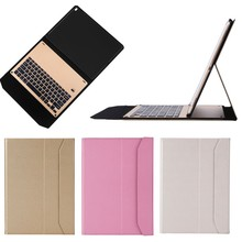 Ultra Thin Aluminum Bluetooth Keyboard Leather Case for iPad Pro 12.9, for iPad Pro Keyboard Case