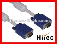 With two ferrites Male to male VGA Cable