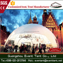 Customized round dome tent with span width from 3m to 100m, outdoor camping dome tent for events