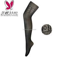 Modern design fabric jacquard knitted net tights best quality