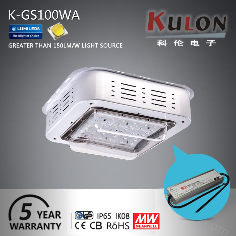 Petrol station 100w aluminum ip66 Ul Saa approved canopy led gas station light