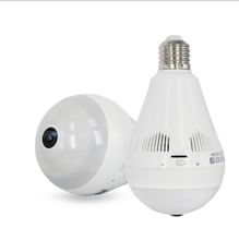 3D Bulb Type Panoramic Cameras Smart wireless fisheye 360 degree camera wifi light bulb IP camera