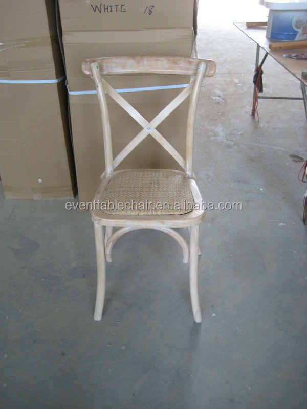 Stackable Cross Back Dining Chairs Wholesale