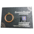 Quantum lava rock jewelry zero point energy pendant with Crystal