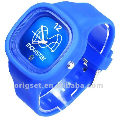 Silicone watch with logo 3ATM waterproof