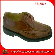 brown lace-up school shoes for kids