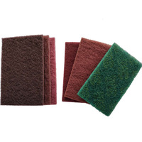 "Brownish ,Red,Green 3M 6"" x 9"" Heavy Duty Industrial Catering Scouring Hand Pads,Proveedor China"
