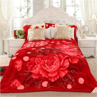 Novelty Knitting 100% Polyester Mink Blanket For Hotel