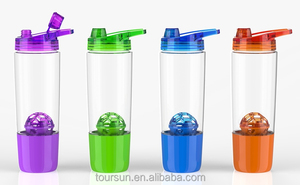 Factory supplied BPA free protein joyshaker bottle with ball