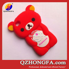 animal silicone phone case 3d cute bear silicone case for Apple iPhone 4 4S