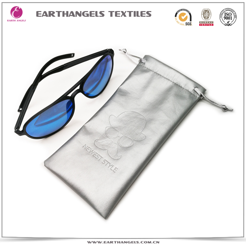 Custom pu leather glasses/eyeglasses/sunglasses pouch bags with logo