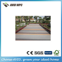 outdoor Engineered wood plastic composite WPC deck flooring