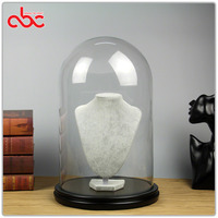 Glass Dome Display With Wood Base
