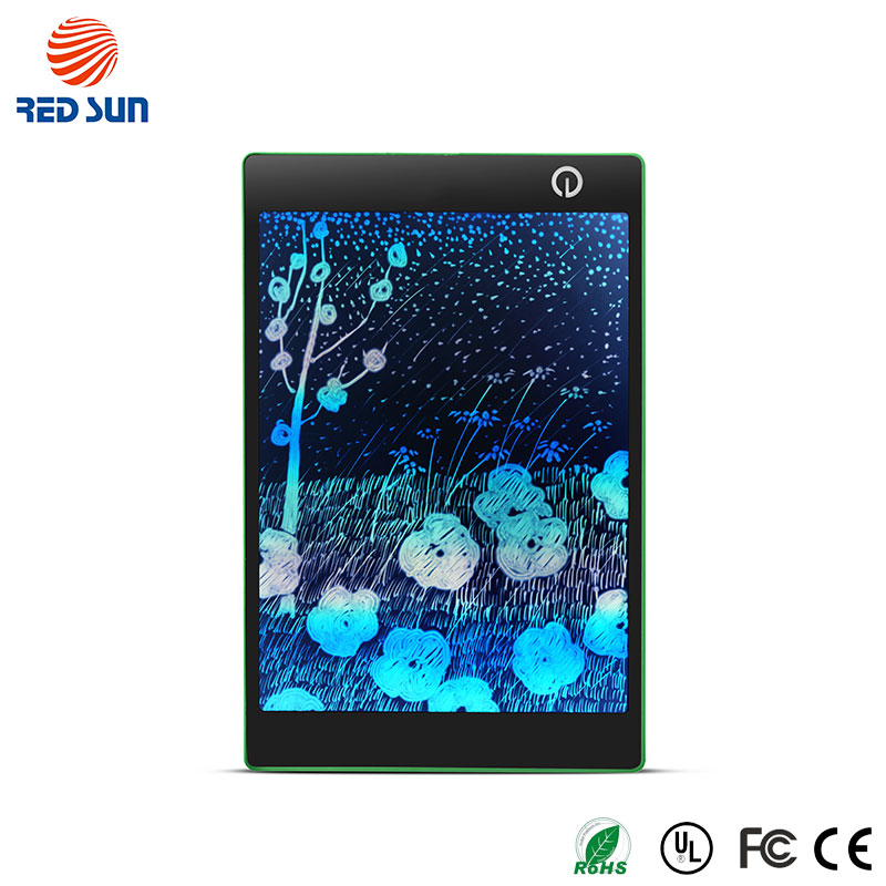 Electronic 9.7 Inch Lcd Writing Tablet Colorful Kids Drawing Board - No Need To Charge,Paperless,Writing Like Pen On Paper