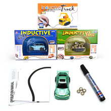 Magic pen drawing mini inductive car toys and truck