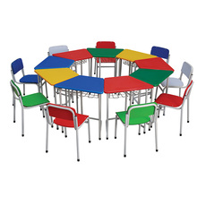 Colorful Multi Purpose Kindergarten Kids Smart Tables in Different Transformed